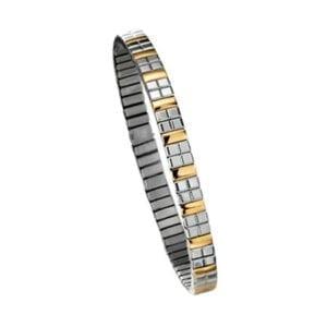 1167 Cube Armband i Stål/Guld