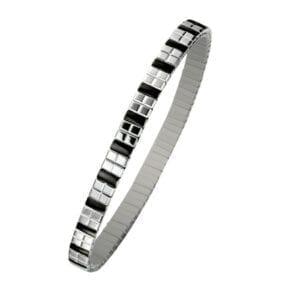 1168 Cube Armband Stål/Svart