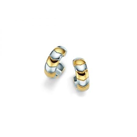1538P Serpentix guld och silver örhänge