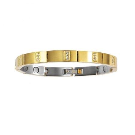 2252 Glitz armband förgyllt med zirkon.